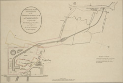 ORIGINAL PLAN of the Termination of the GRAND JUNCTION CANAL at PADDINGTON as Agreed with the Bishop of London and Confirmed by Act of Parliament to the Company